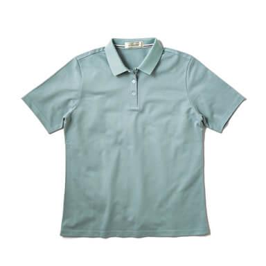 【レディース】無地ポロシャツ