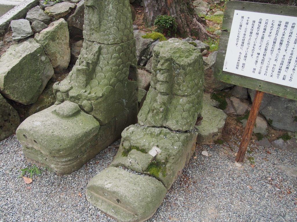 笏谷石(しゃくだにいし)の鯱(しゃちほこ)