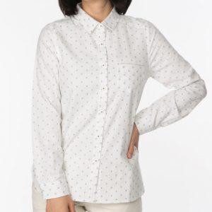 水玉柄ジャガードシャツ
