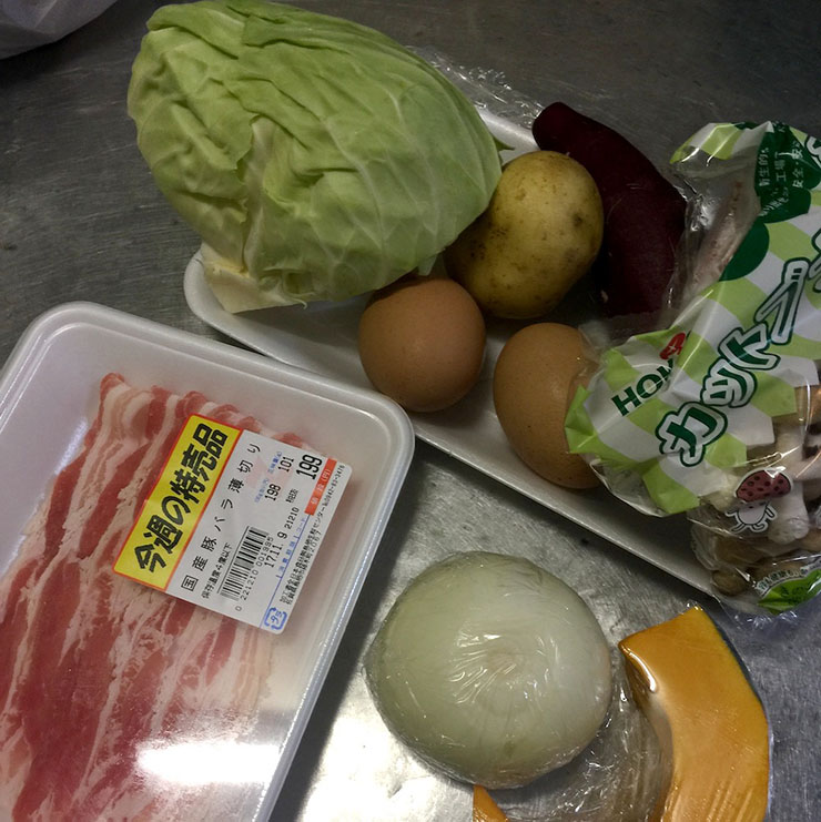自炊用の食材