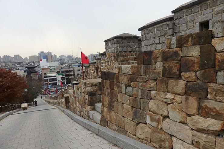 西南の城壁
