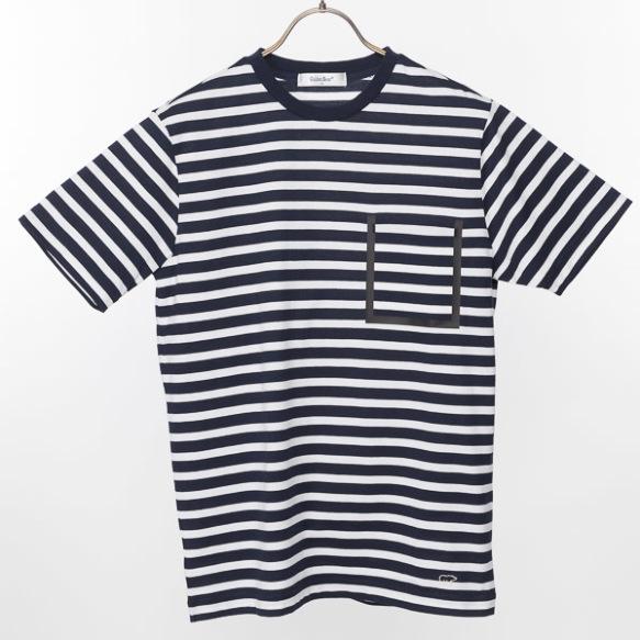 袖ボーダーTシャツ
