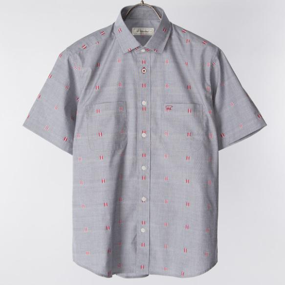 半袖セミワイドシャツ