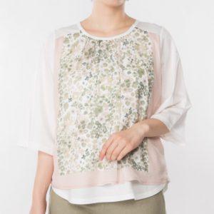 スカーフ風プリントTシャツ