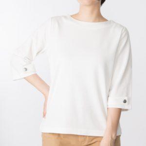 袖ボタンTシャツ