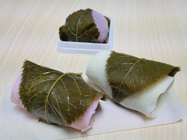 長命寺と道明寺(桜餅)