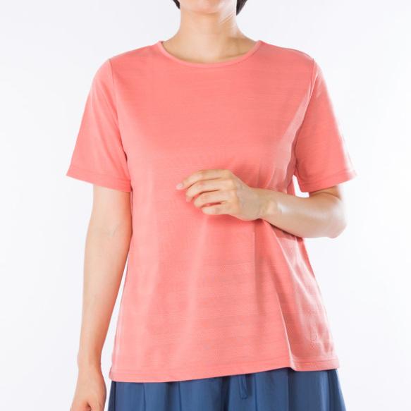 地柄半袖Tシャツ