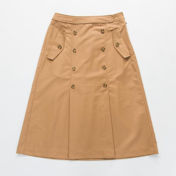 トレンチ風フレアスカート
