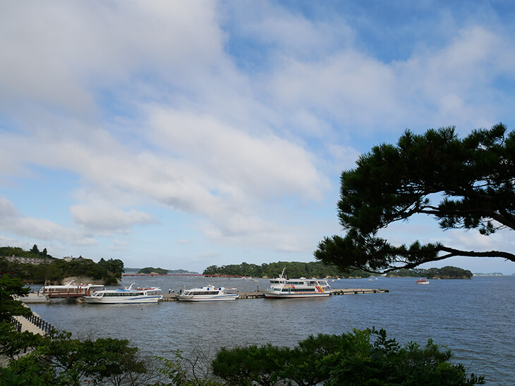 観瀾亭からの松島の景色