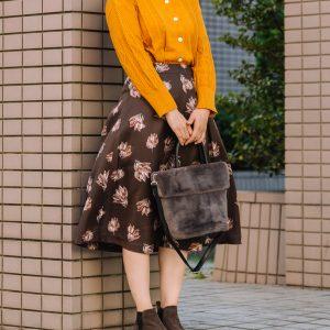 編み柄カーディガン