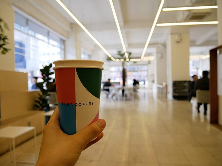 カップがオシャレなLUFT COFFEE
