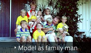 Model as family man